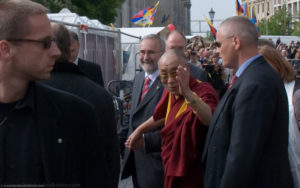 Der Dalai Lama zu Besuch in Berlin, photography by bernhard volkwein