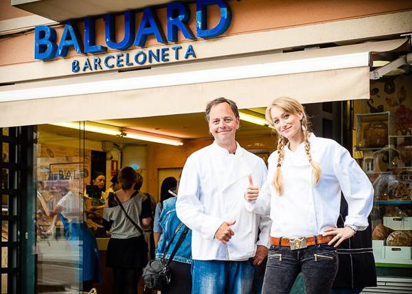 During the Photoshoot in Barcelona. Barceloneta